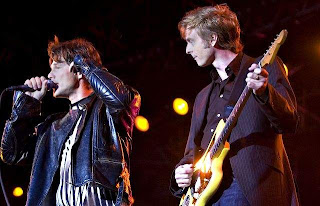 Morten e Paul durante show na Noruega, ontem (17) à noite. Foto: Trond Thorvaldsen/Fredriksstad Blad