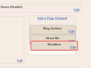 Menambahkan Shout Box
