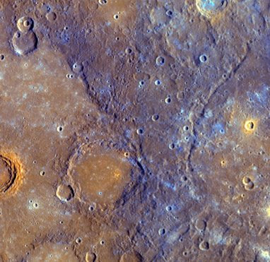 The surface of Planet Mercury