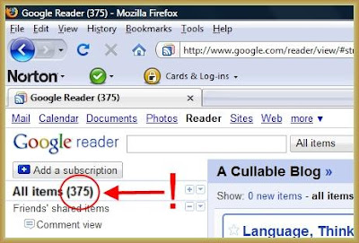 Link to Google Reader
