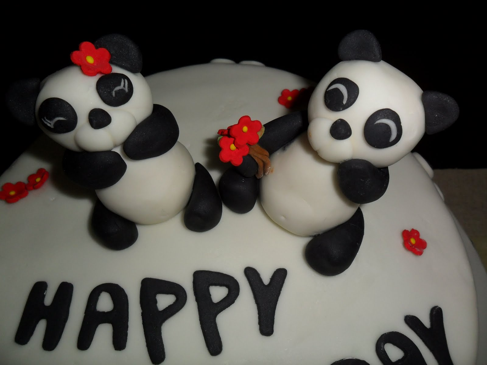 cakes fondant panda