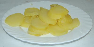 Plato de patatas al vapor