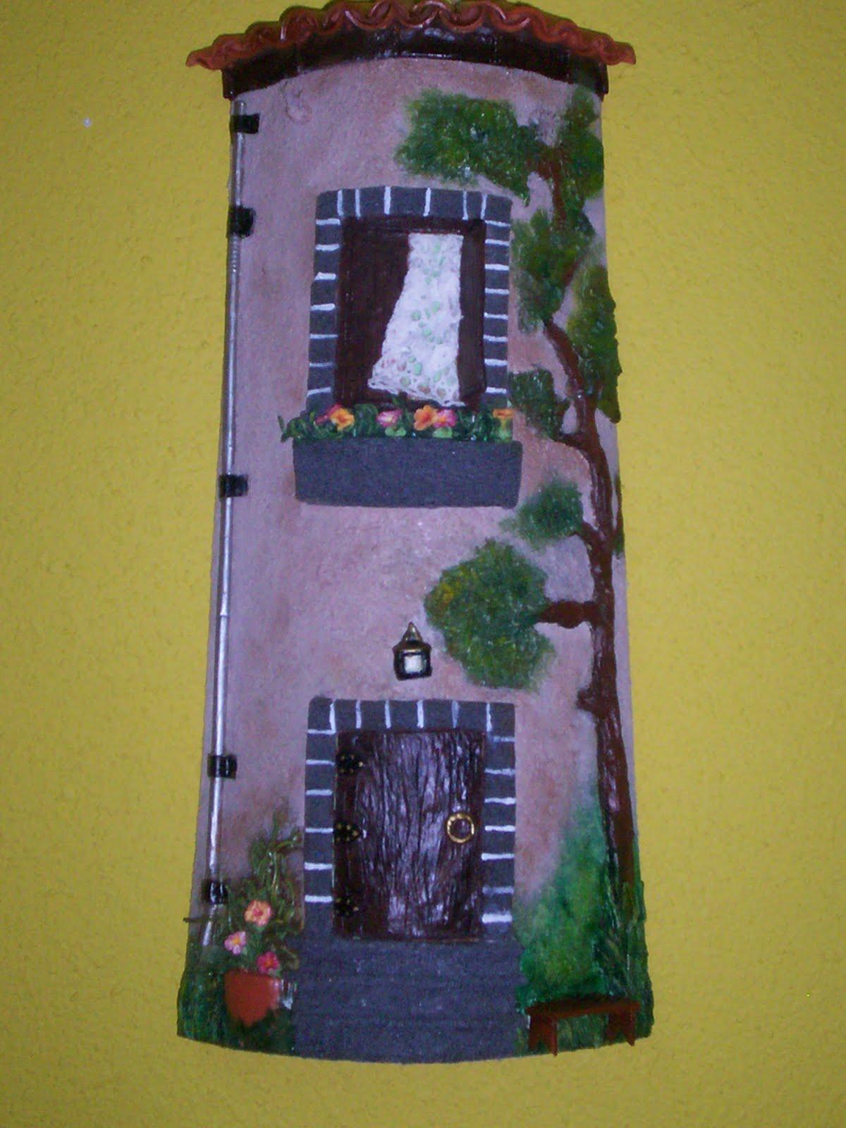 Adolfina mesa tejas decoradas en relieve - Manualidades para casa rustica ...