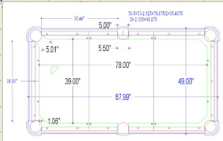 CAD Drawing For The Slate And The Slate Support Frame