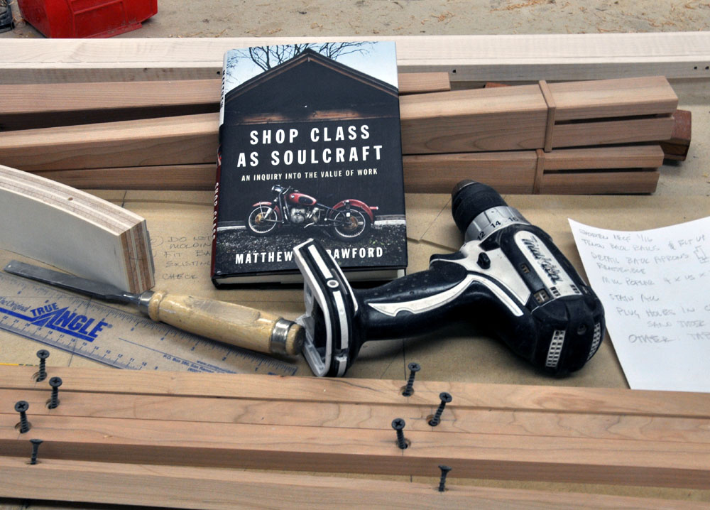 shop class as soulcraft essay Shop class as soulcraft: an inquiry into the value of work [matthew b crawford] on amazoncom free shipping on qualifying offers a philosopher/mechanic's.