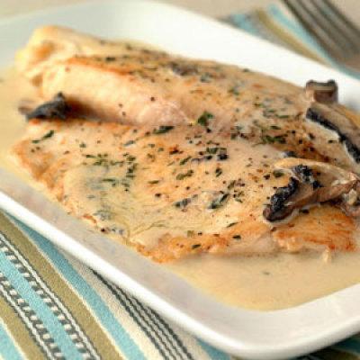 Smokin 39 oven creamy tilapia for Creamy sauce for fish