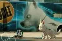 Bolt is a superhero on screen but in real life he's but a little dog scared by pigeons...