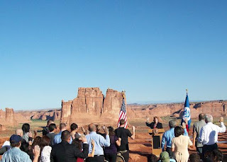 Photo added October 12: A naturalization ceremony held at Arches National Park in September 2010