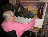 Barbara Williamson working in her studio