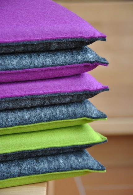 filz wissenswertes und impressionen sitzkissen aus filz. Black Bedroom Furniture Sets. Home Design Ideas