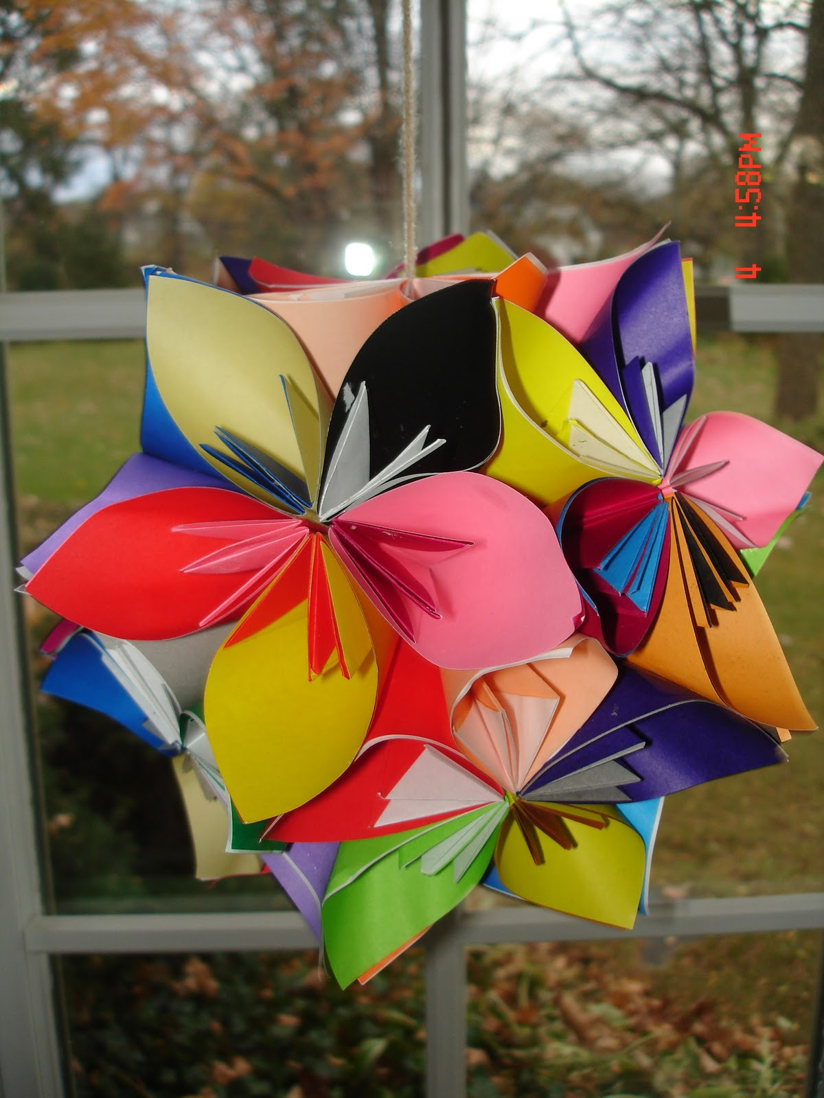 Whimsical World Of Laura Bird Origami Flower Ball Tutorial