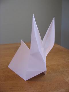 วิธีพับกระดาษกระต่าย