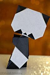 การพับกระดาษ หมี แพนด้า