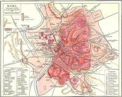 แผนที่ กรุง โรม อิตาลี