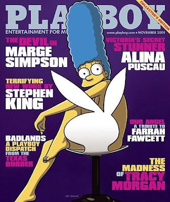 หนังสือโป๊เพลย์บอย ทำเก๋นำตัวการ์ตูนซิมป์สันขึ้นปก (Playboy & Simpson)