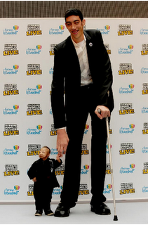 Highest and shortest Human  in the world