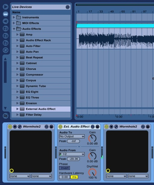 tips for your os x daw: Track freezing in Ableton Live whilst