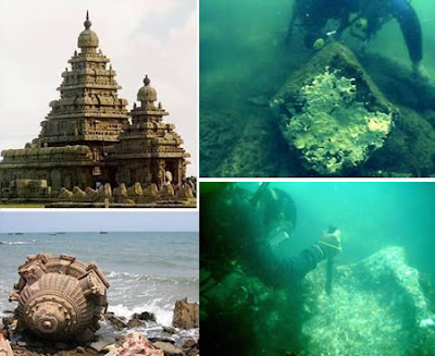 The submerged temples of Mahabalipuram (India)