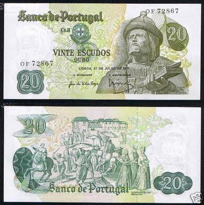 Portugal 20 Escudos 27-07-1971