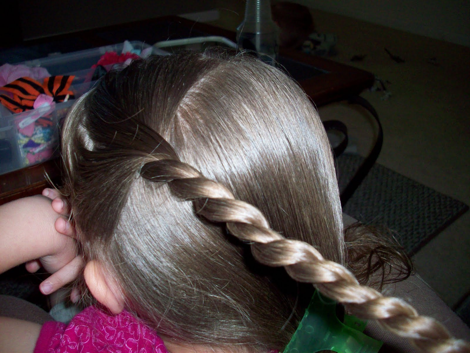 My little ones hair zig zag part with twists and french braid 1041665g ccuart Images