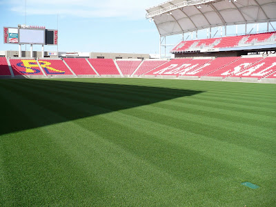 The awesome playing field at Rio Tinto Stadium