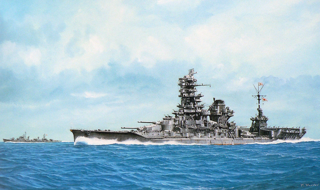 """1944, """"Ise"""" el acorazado portaviones japones"""