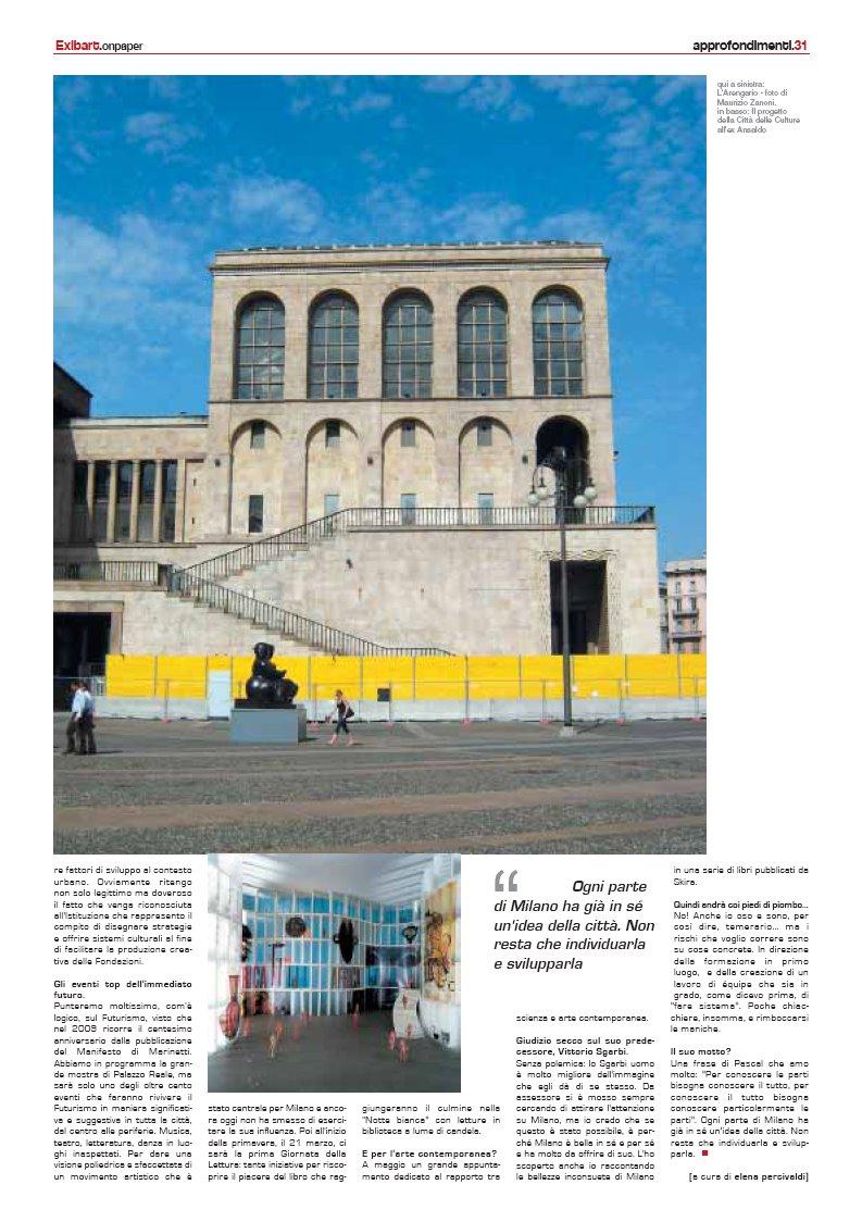 Milano città d'arte arriva su Exibart