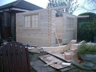 blackpool log cabin building