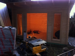 cheltenham log cabin installation