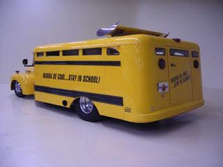 1949 Ford F-8 School Bus 403 Olds School Bus-2