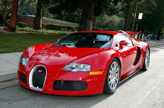Red Bugatti Veyron