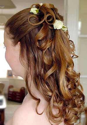 hair half up/half down
