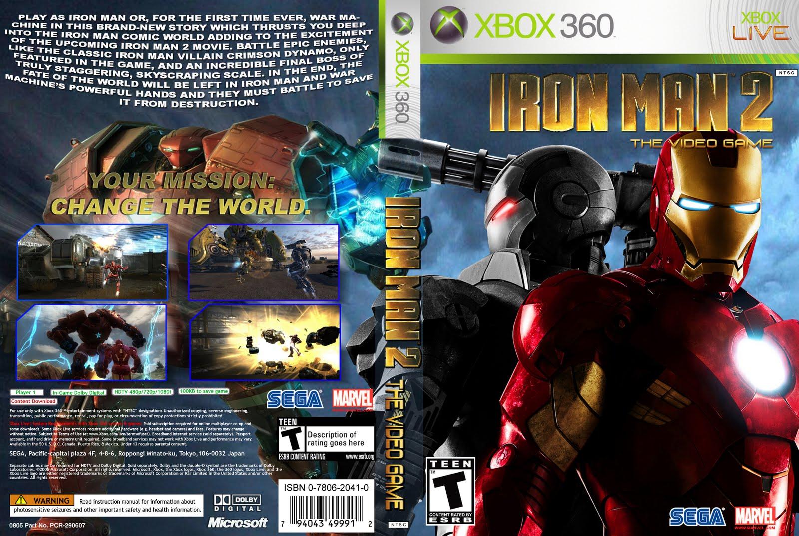 Iron Man 2: Xbox 360 Covers: Iron Man 2