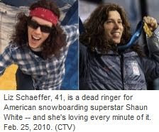 Liz Schaffer and Shaun White