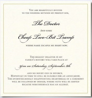 Wedding Invitation from a pissed off mother-in-law