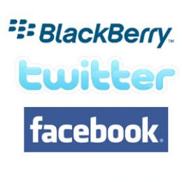 BlackBerry, Facebook and Twitter