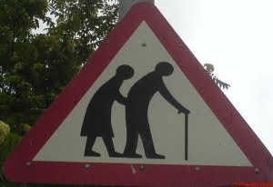 Old Folks Crossing!
