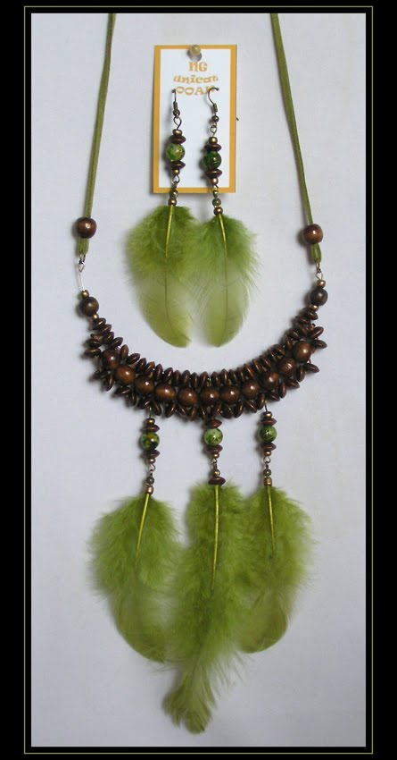 Olive-Green Necklace