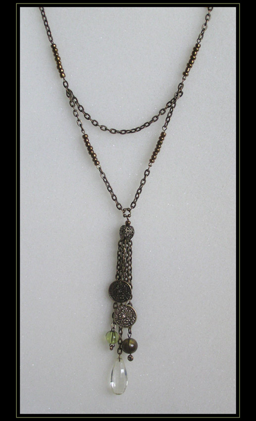 Bronze and Green Necklace (art.2.3)