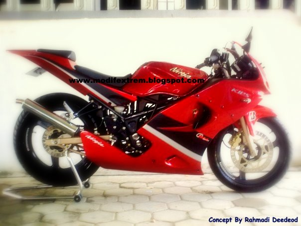 Photo Kawasaki Ninja 4 Tak Modifikasi