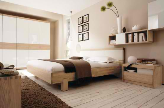 Warm Bedroom Decorating Ideas Design by Huelsta