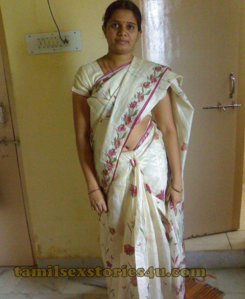 Real Life Tamil Aunty Vasumathi In Saree