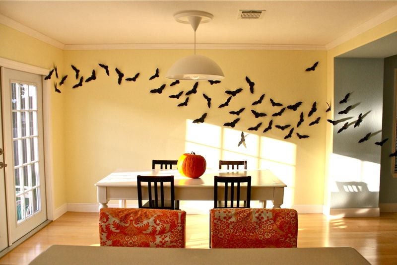 Halloween Wall Decoration Ideas : Bats decoration made everyday
