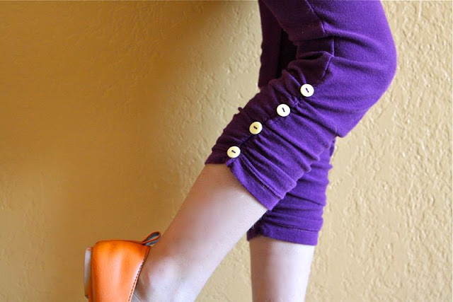 recycling tutorial: ruched leggings (for girls and women)
