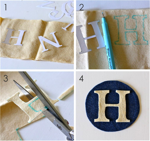 TUTORIAL: Monogrammed Family Ornaments | MADE