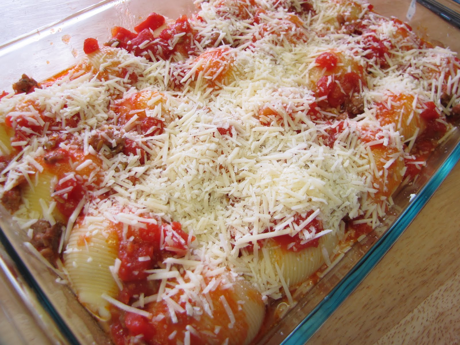 Try It Tuesday: Three Cheese-Stuffed Shells with Meaty Tomato Sauce