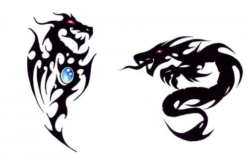 dragon tattoos for guys. tribal dragon tattoos for men.