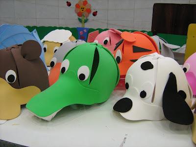 Chapéus de bichinhos - E.V.A
