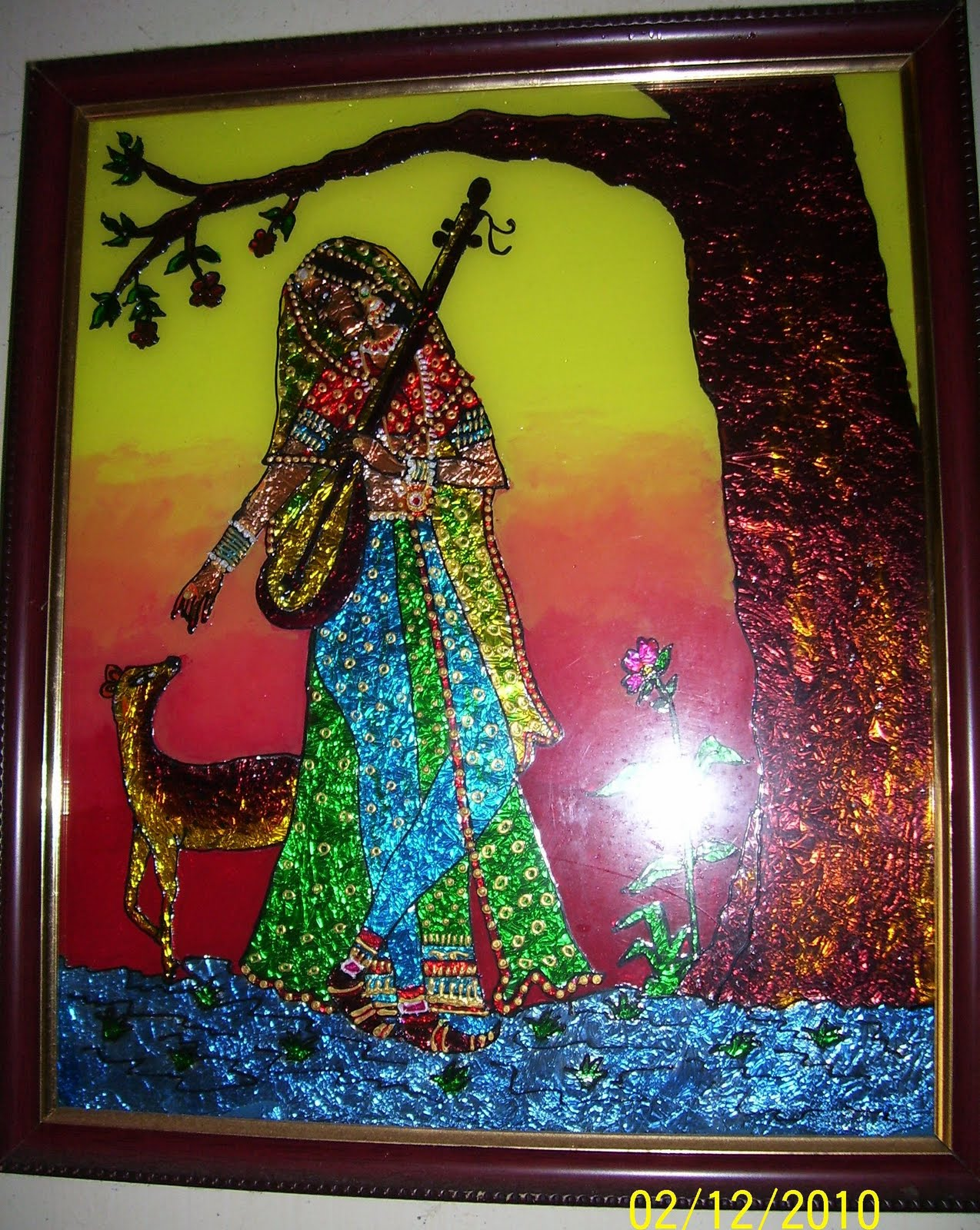 Bhuvana 39 s creative world glass painting for How to do glass painting at home