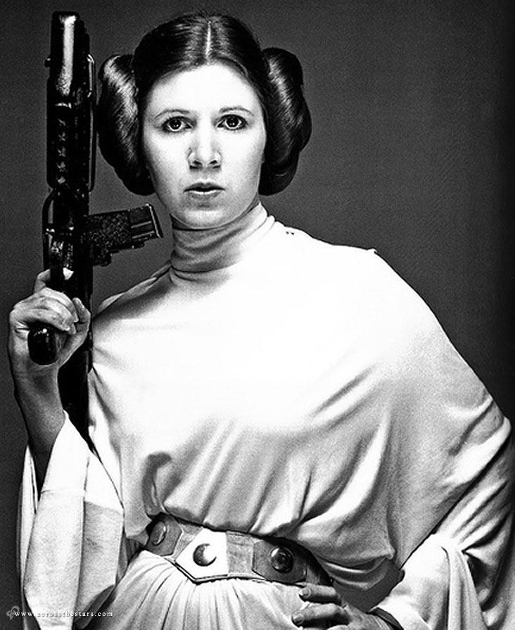 from Gilbert carrie fisher hard nipples